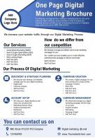 One Page Digital Marketing Brochure Presentation Report Infographic PPT PDF Document