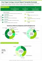 One Page Ecology Annual Report Template Example Presentation Report Infographic PPT PDF Document