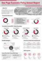 One Page Economic Policy Annual Report Presentation Report Infographic PPT PDF Document
