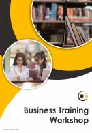 One Page Education And Training Brochure Template
