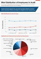 One Page Effort Distribution Of Employees In Audit Presentation Report Infographic PPT PDF Document