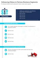 One Page Enhancing Values In Various Business Segments Presentation Report Infographic PPT PDF Document