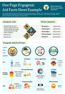 One Page Ergogenic Aid Facts Sheet Example Presentation Report Infographic PPT PDF Document