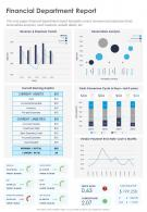 One Page Financial Department Report Template 439 Presentation Report Infographic PPT PDF Document
