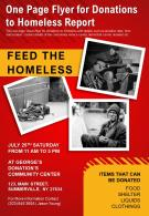 One Page Flyer For Donations To Homeless Report Presentation Report Infographic PPT PDF Document