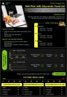 One Page For Diet Plan With Glycemic Food List Presentation Report Infographic PPT PDF Document