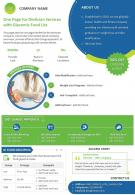 One Page For Dietician Services With Glycemic Food List Presentation Report Infographic PPT PDF Document