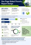 One Page Global Poverty Report Design Presentation Infographic PPT PDF Document