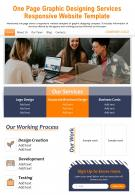 One Page Graphic Designing Services Responsive Website Template Report PPT PDF Document