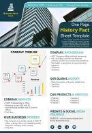 One Page History Fact Sheet Template Presentation Report Infographic PPT PDF Document