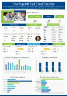 One Page HR Fact Sheet Template Presentation Report Infographic PPT PDF Document