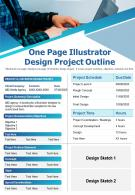 One Page Illustrator Design Project Outline Presentation Report Infographic PPT PDF Document