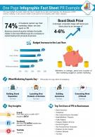 One Page Infographics Fact Sheet PR Example Presentation Report Infographic PPT PDF Document