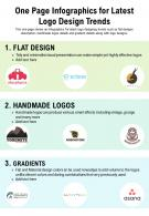 One Page Infographics For Latest Logo Design Trends Presentation Report Infographic PPT PDF Document
