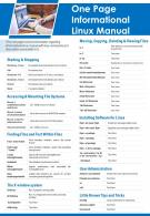 One Page Informational Linux Manual Presentation Report Infographic PPT PDF Document