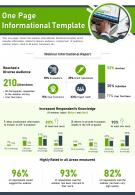 One Page Informational Template Presentation Report Infographic PPT PDF Document