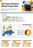 One Page Investment Market Compendium Presentation Report PPT PDF Document
