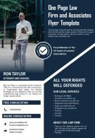 One Page Law Firm And Associates Flyer Template Presentation Report PPT PDF Document