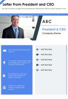 One Page Letter From President And CEO Template 386 Presentation Report Infographic PPT PDF Document