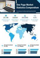 One Page Market Statistics Compendium Presentation Report PPT PDF Document