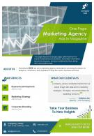 One Page Marketing Agency Ads In Magazine Presentation Report Infographic PPT PDF Document