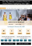 One Page Multiple Countdown Timers On Fashion Website Highlighting Sales Offers Report Infographic PPT PDF Document