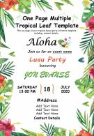 One Page Multiple Tropical Leaf Template Presentation Report Infographic PPT PDF Document