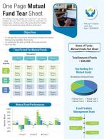 One Page Mutual Fund Tear Sheet Presentation Report Infographic PPT PDF Document