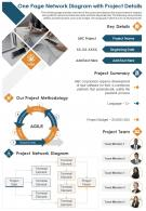 One Page Network Diagram With Project Details Presentation Report Infographic PPT PDF Document