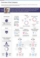 One Page Overview Of The Company Presentation Report Infographic PPT PDF Document