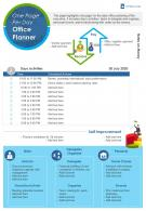 One Page Per Day Office Planner Presentation Report Infographic PPT PDF Document