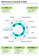 One Page Performance Snapshot Of 2020 Template 457 Presentation Infographic PPT PDF Document