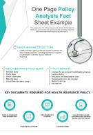 One Page Policy Analysis Fact Sheet Example Presentation Report Infographic PPT PDF Document