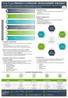 One Page Product Category Management Strategy Presentation Report Infographic PPT PDF Document