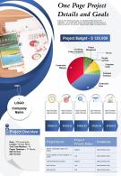 One Page Project Details And Goals Presentation Report Infographic PPT PDF Document