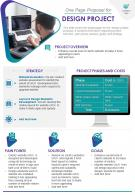 One Page Proposal For Design Project Presentation Report Infographic PPT PDF Document