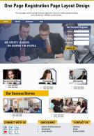 One Page Registration Page Layout Design Presentation Report Infographic PPT PDF Document