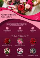 One Page Retail And Sales Brochure Florist Template