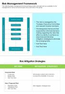 One Page Risk Management Framework Template 458 Presentation Report Infographic PPT PDF Document