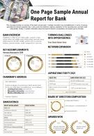 One Page Sample Annual Report For Bank Presentation Report Infographic PPT PDF Document