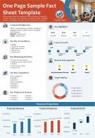 One Page Sample Fact Sheet Template Presentation Report Infographic PPT PDF Document