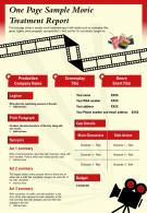 One Page Sample Movie Treatment Report Presentation Report Infographic PPT PDF Document