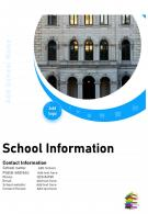 One Page School Performance Annual Report Infographic PPT PDF Document