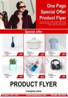 One Page Special Offer Product Flyer Presentation Report Infographic PPT PDF Document