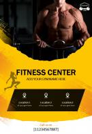 One Page Sports And Wellness Gym Brochure Template