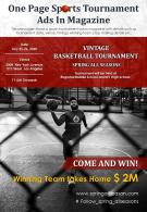 One Page Sports Tournament Presentation Report Infographic PPT PDF Document