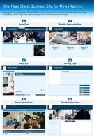 One Page Static Business Site For News Agency Presentation Report PPT PDF Document