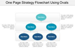 One Page Strategy Flowchart Using Ovals