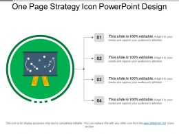 One Page Strategy Icon Powerpoint Design