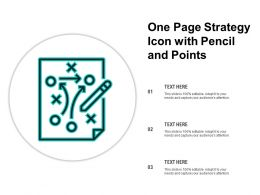 One Page Strategy Icon With Pencil And Points